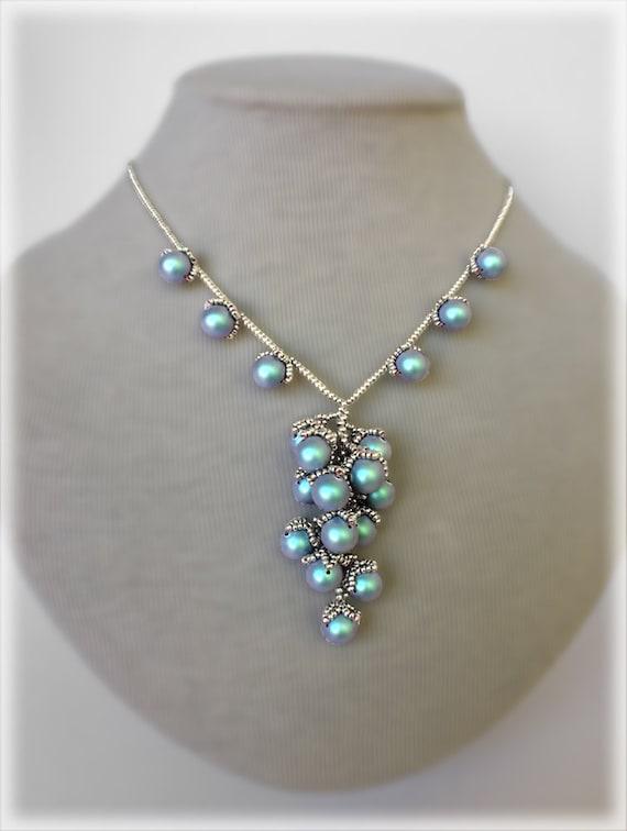 BerryGrape pendant and necklace beading TUTORIAL