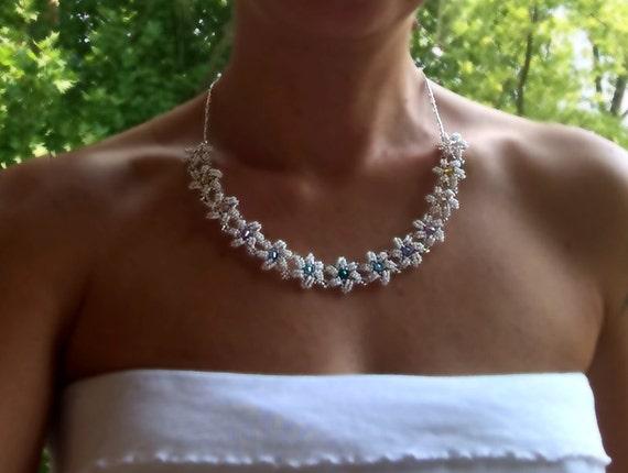 Starswirl necklace beading TUTORIAL