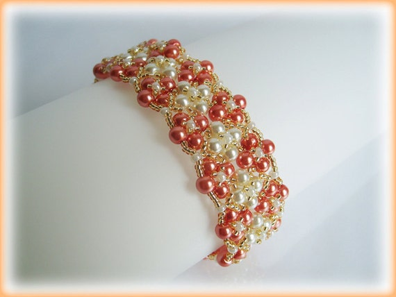 Carpet with Flower bracelet beading TUTORIAL
