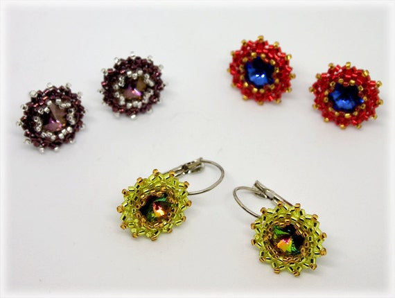 Sugar earrings beading TUTORIAL