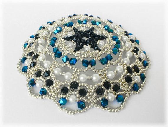 Jewish Kippah religious wear beading TUTORIAL