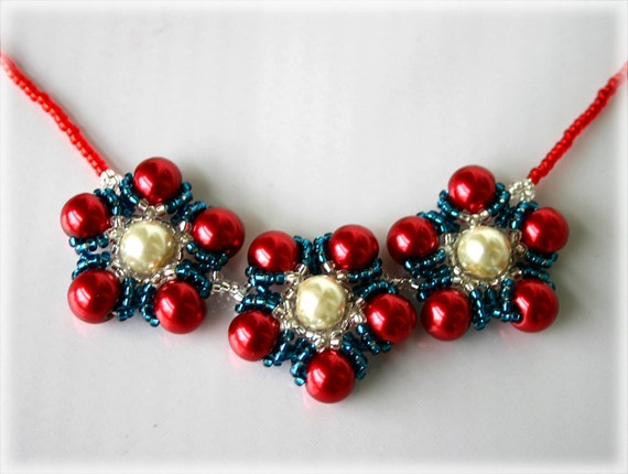 RedKini necklace beading TUTORIAL