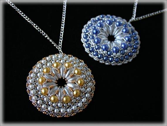 BigRound pendant beading TUTORIAL