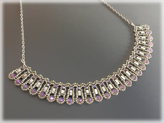 TiLace necklace beading TUTORIAL