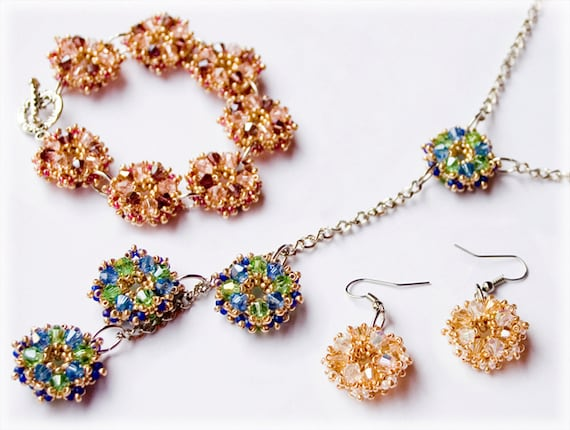 Rosy set beading TUTORIAL
