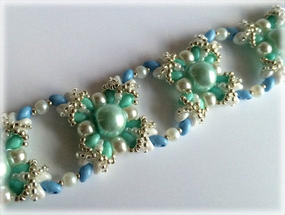 IceChain bracelet beading TUTORIAL