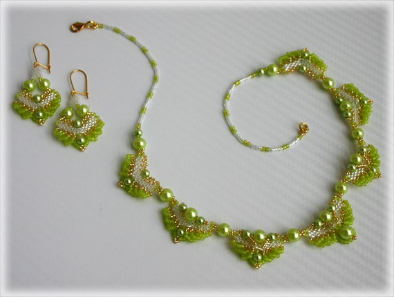 GreenHeart set beading TUTORIAL