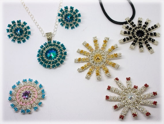 JapanGarden pendants beading TUTORIAL