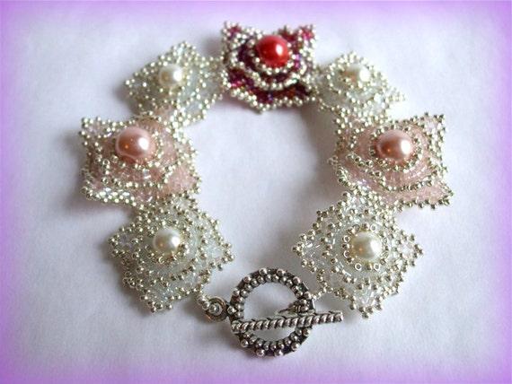 RosePillow bracelet beading TUTORIAL