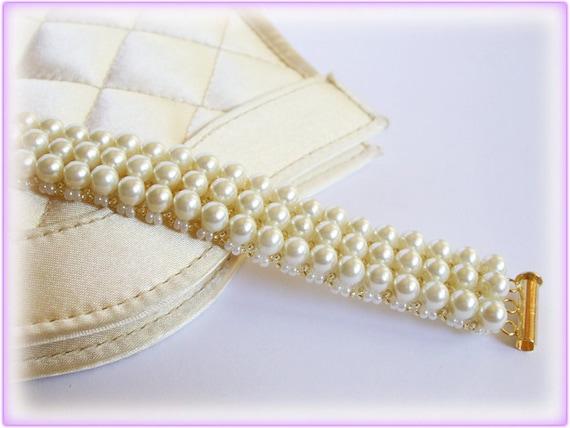 Beadwork bracelet beading TUTORIAL