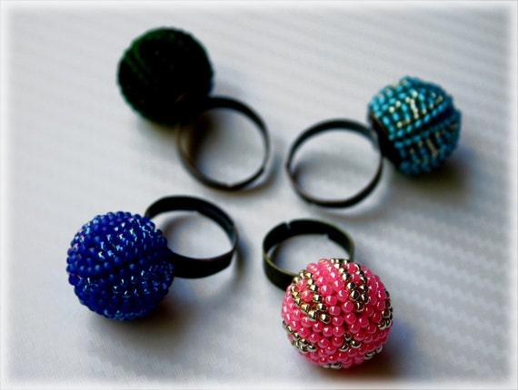 PearlBerry ring beading TUTORIAL