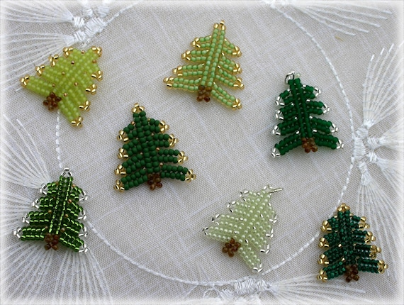 Xmas Tree pendant beading TUTORIAL