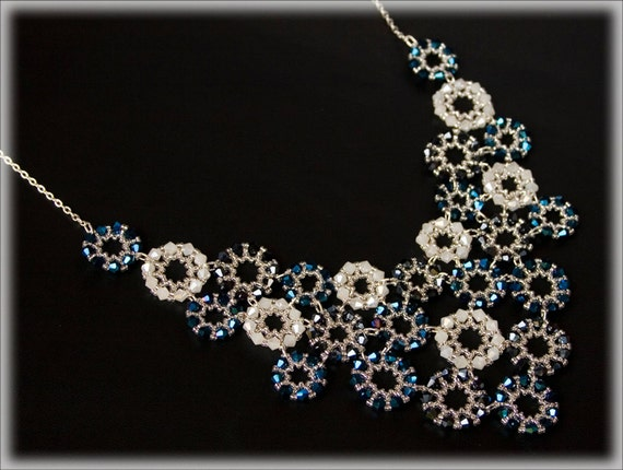 BlueRounds necklace beading TUTORIAL