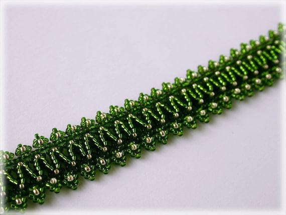 Lacy bracelet beading TUTORIAL