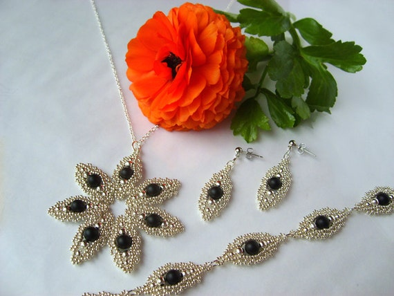 Lace Eye set beading TUTORIAL