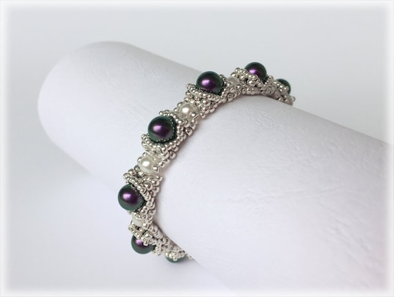 PearlCradle bracelet beading TUTORIAL