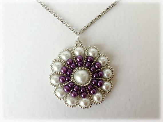 PurpleStroll pendant beading TUTORIAL
