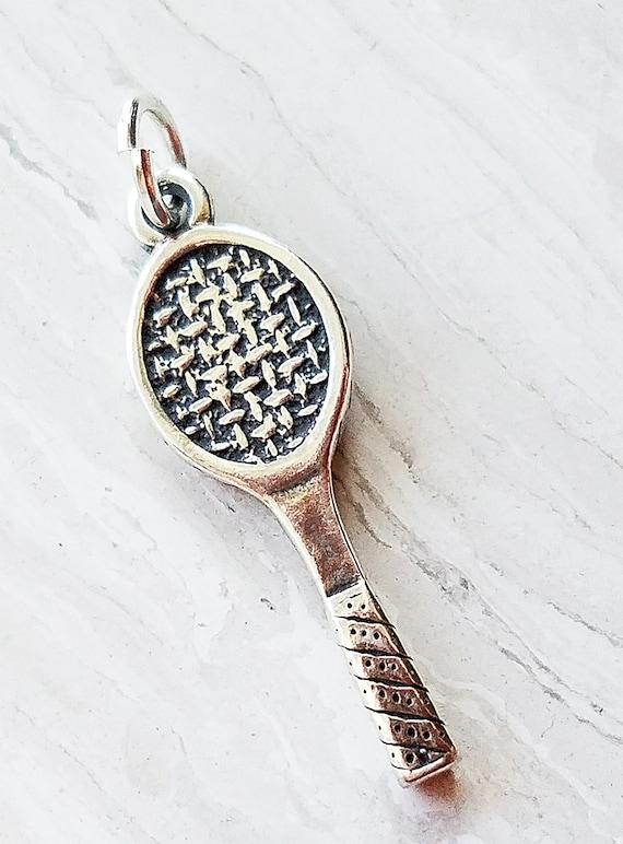 Sterling Silver 3D Heavy Baseball Glove Sports Dangle Charm Bead For Bead Charm Bracelet