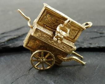 Antique Victorian 9ct Gold  Ewer  Jug Charm L/&Co 1899