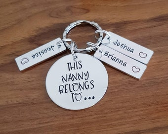 This nanny belongs to personalised keyring great gift for her for mothers  day birthdays any occasion wording can be changed to Grandma nan ebda16ae67