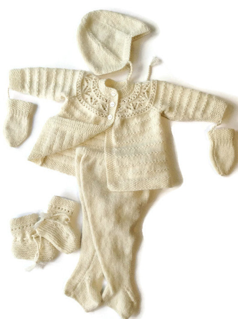 f6bfaa1a7184d1 Luxury Hand knitted pram suitPure cashmere baby suit luxury