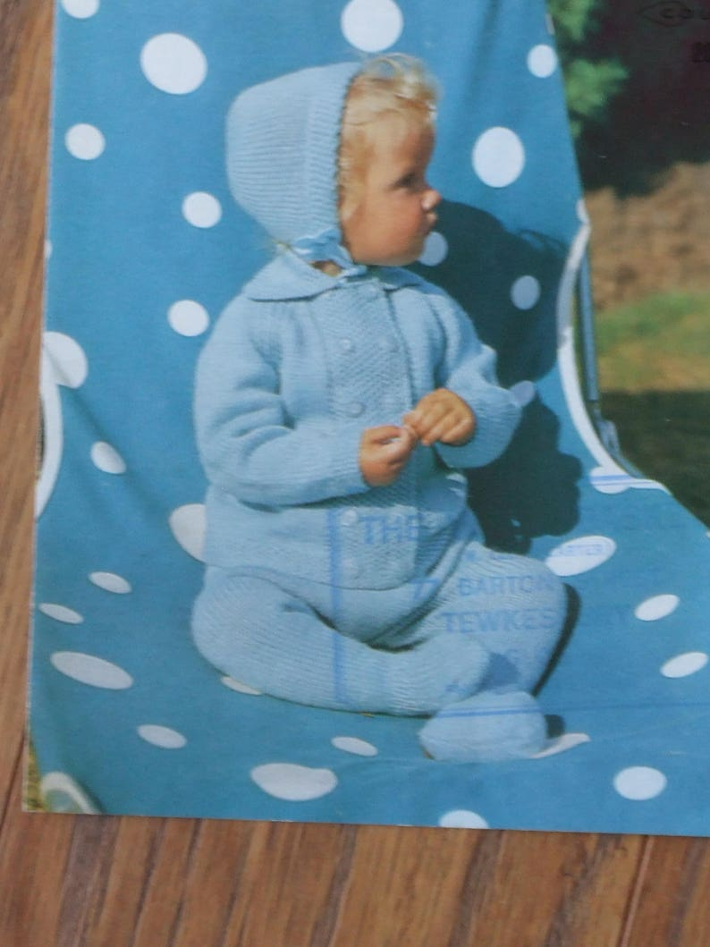 hand knitted in Scotland Hand knitted  pram suit vintage pattern pram suit merino wool suits,baby knitwear,baby gift,new born knit