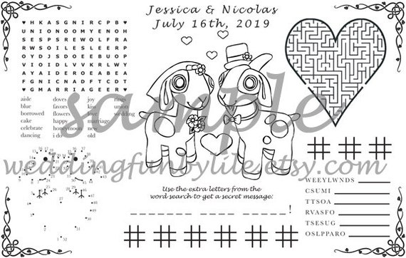 Goat Wedding Activity PDF  Your Names & Date  You choose Genders  Coloring,  Maze, Dot to Dot