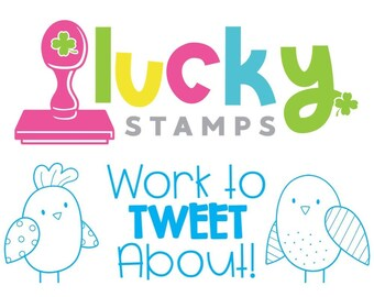 Work To TWEET About! Self-Inking Teacher Stamp, Teacher Stamp, Bird Stamp, Spring Stamp, Teacher Stamp, Lucky to be in First, Bird