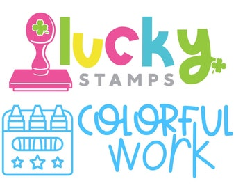 Colorful Work! Lucky Stamps, Self-Inking Teacher Stamp, Teacher Stamp, Spring Stamp, Teacher Stamp, Lucky to be in First