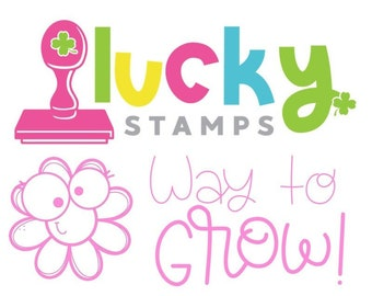Way to Grow! Self-Inking Teacher Stamp, Self Inking Stamp, Teacher Stamp, Lucky to be in First, Flower