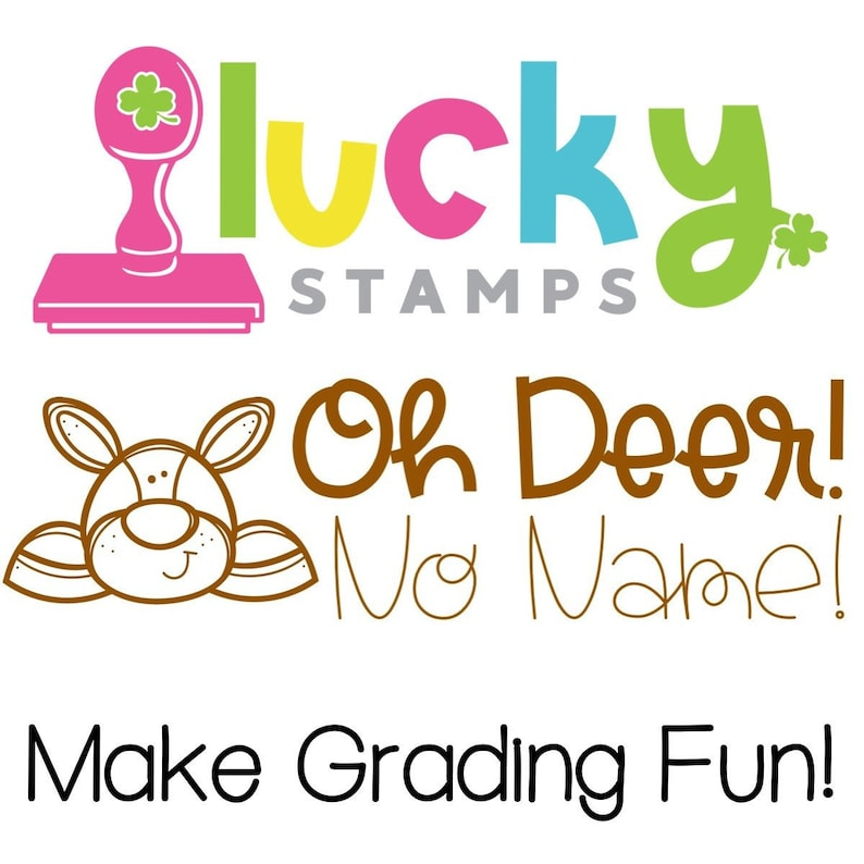 Oh Deer No Name Steamp Self-Inking Teacher Stamp image 0