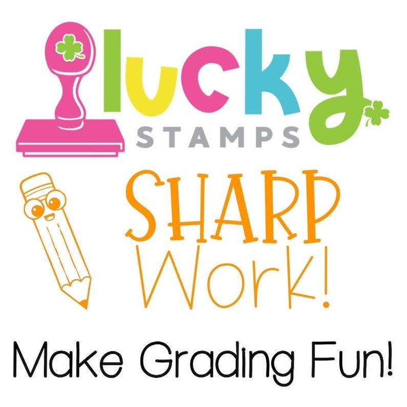 Sharp Work Self-Inking Teacher Stamp image 0