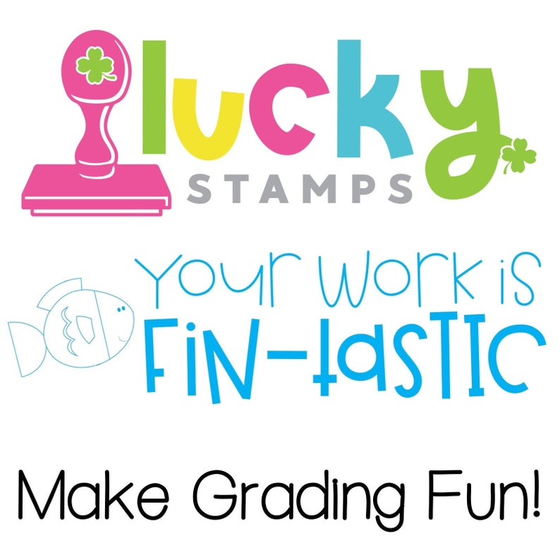 Your Work is Fin-Tastic Self-Inking Teacher Stamp image 0