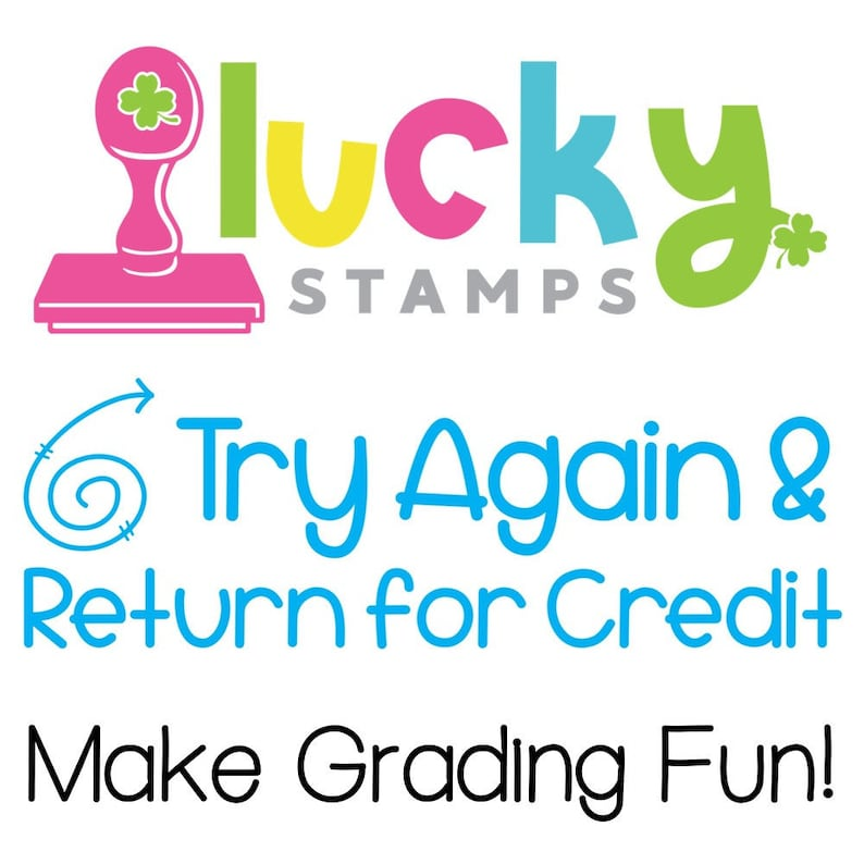 Try Again & Return for Credit Self-Inking Teacher Stamp image 0