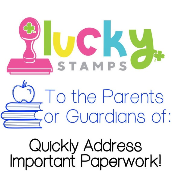 Parent Guardian Self Inking Teacher Stamp