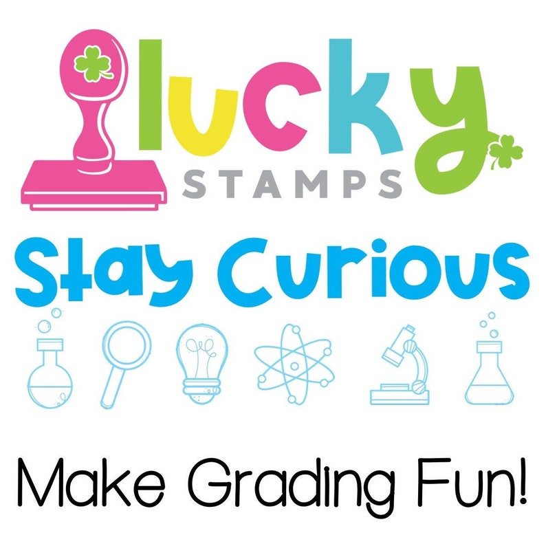 Stay Curious Self-Inking Teacher Stamp image 0
