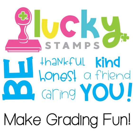 Gobblin/' Good Turkey Lucky to be in First Self-Inking Teacher Stamp Self Inking Stamp Teacher Stamp