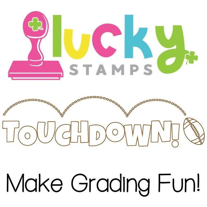 Touchdown Self-Inking Teacher Stamp image 0