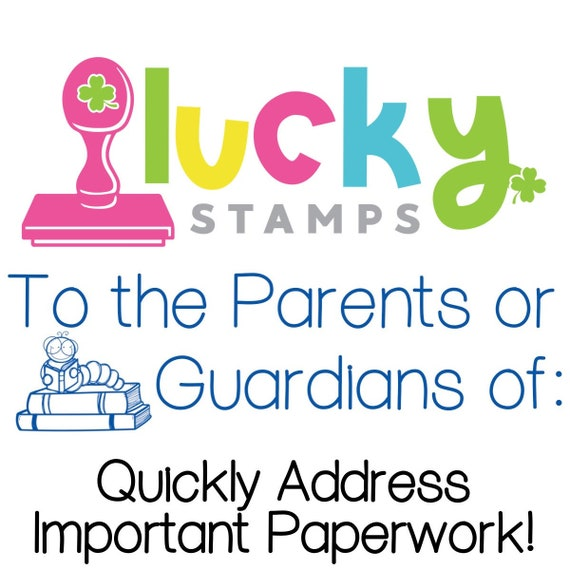 Parent Guardian Pre Inked Teacher Stamp