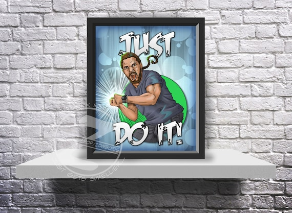 Shia LaBeouf Motivational poster just do it funny Print poster choose Size