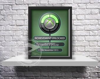 CUSTOM Xbox Achievement unlocked print Choose Inserts, and Size