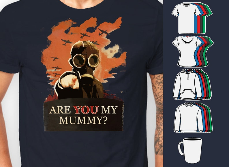 13b8335f1 Doctor Who Are you my mummy Kid in Gas Mask Tee shirt T-Shirt | Etsy