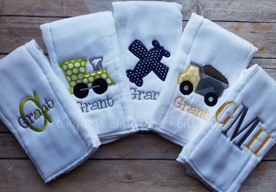 Baby Boy Gift Baby Burp Cloths Personalized Baby Boy Shower Gift Boy Gift Personalized Football Baby Gift Football Baby Boy Burp Cloth