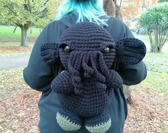 Crochet Cthulhu bag/backpack PDF PATTERN
