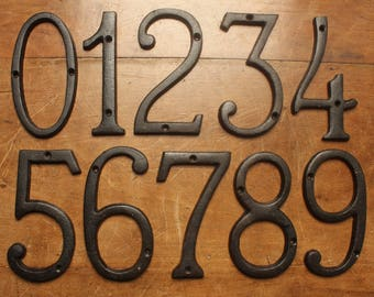 Rustic House Numbers Etsy - Cheap metal house numbers