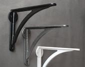 7 Inch Cast Iron Heavy Industrial Ironbridge Shelf Brackets - Antique Vintage Wall Metal Shelf Toilet Supports Shelving