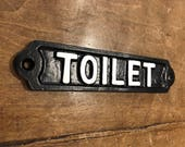 Railway Vintage Toilet Door Sign Cast Metal - Bathroom Wc Washroom Industrial Style Railway Cast Iron Style Sign BRITISH MADE - BATH-03-bl