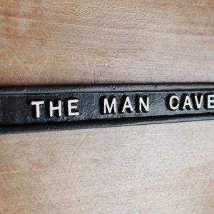 BPMC0207 RAFAEL/'S MAN CAVE Rustic Shield Sign Man Cave Decor Funny Gift