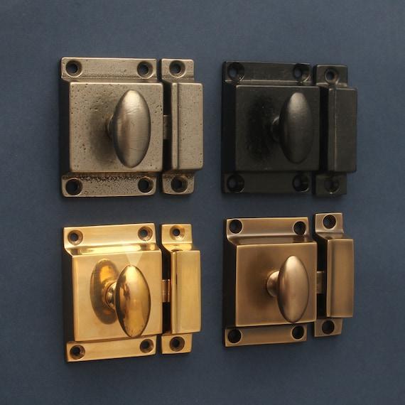 Cupboard Turn Latch Catch Knob Cabinet, How To Lock Kitchen Cabinet Doors