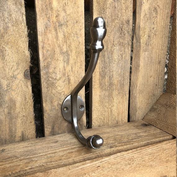 1 x CAST IRON COAT HOOK VICTORIAN OLD ANTIQUE VINTAGE OLD WALL DOOR hook CH06